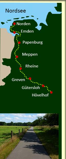 Ems Radweg Rad Reise